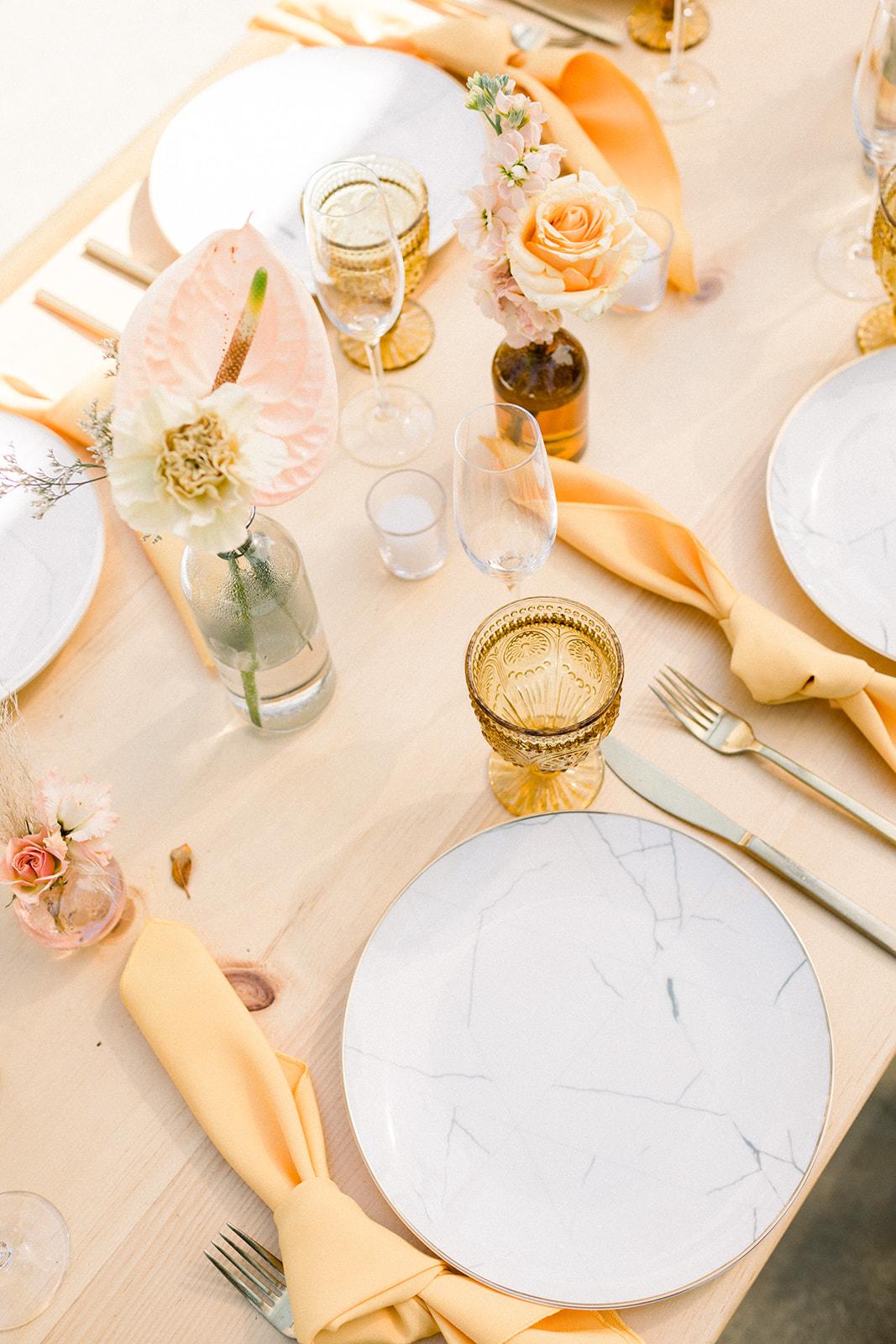 Bright Bohemian Wedding Centerpieces
