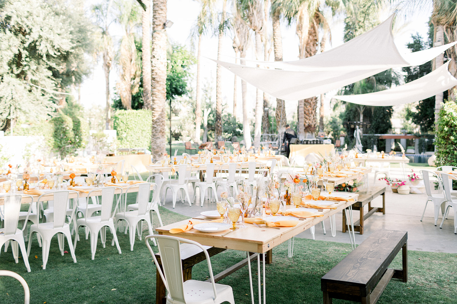 Colorful bohemian Palm Springs wedding at Cree Estate