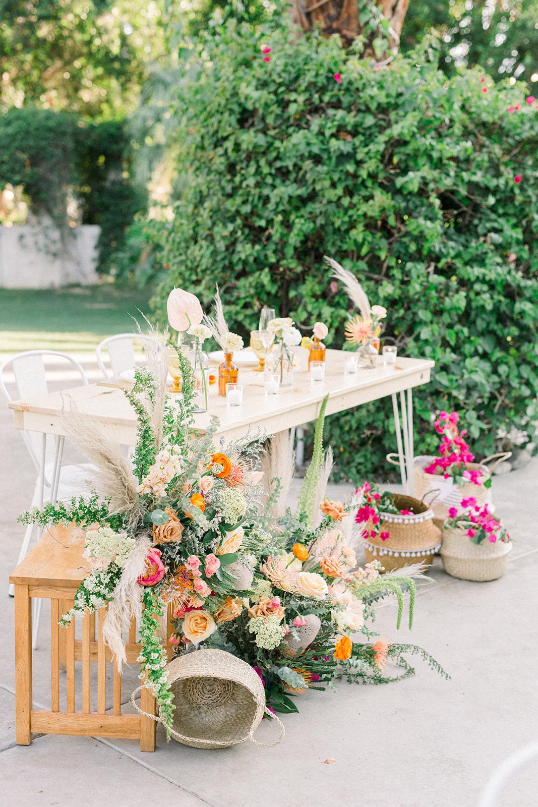Bright Bohemian Hairpin Sweetheart Table