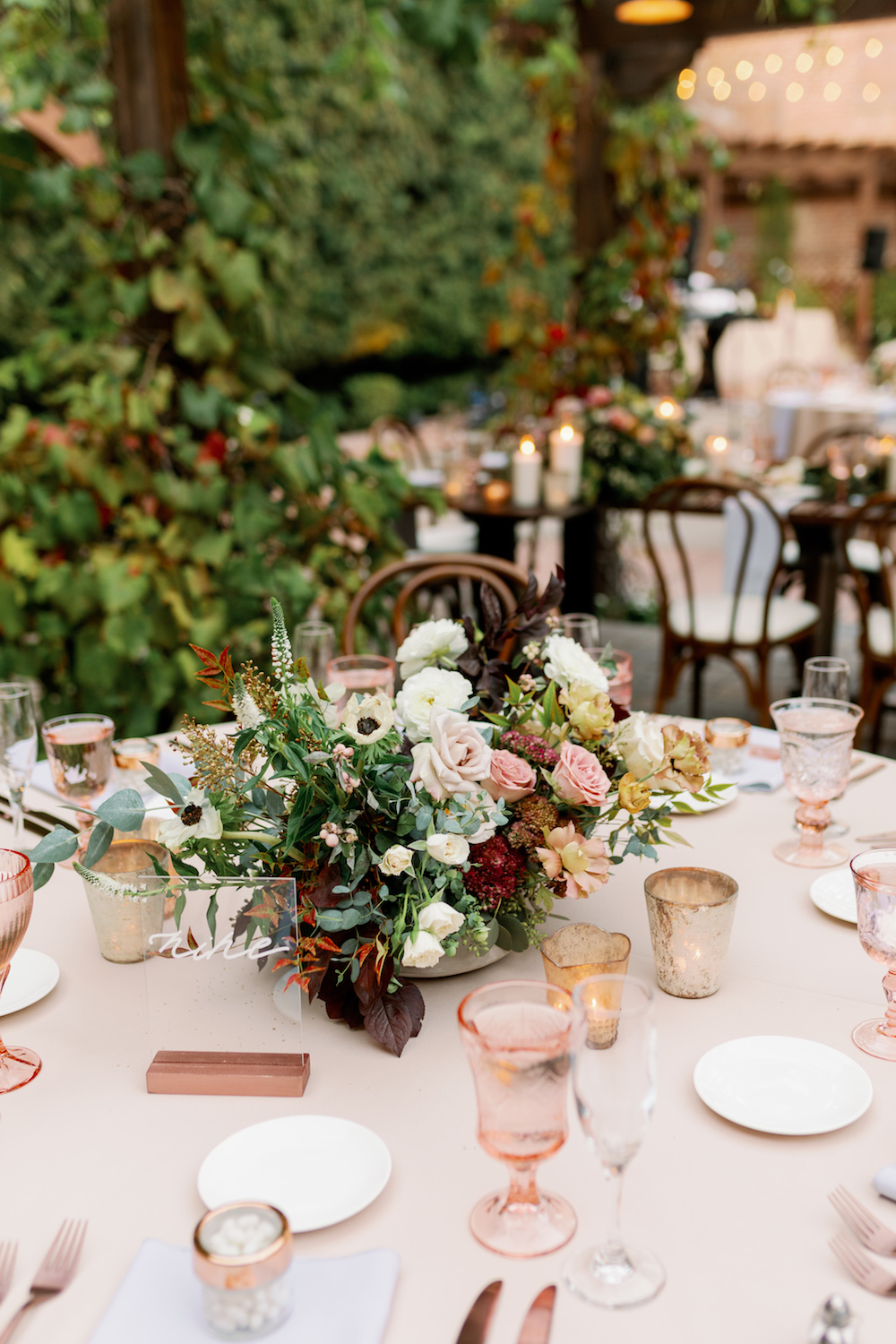 Blush and Rose Gold Romantic Wedding Ta