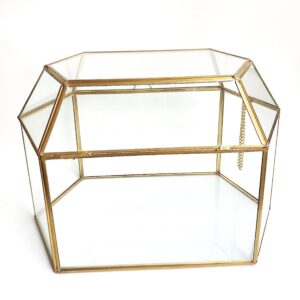 Gold and Glass Wedding Card Box Holder