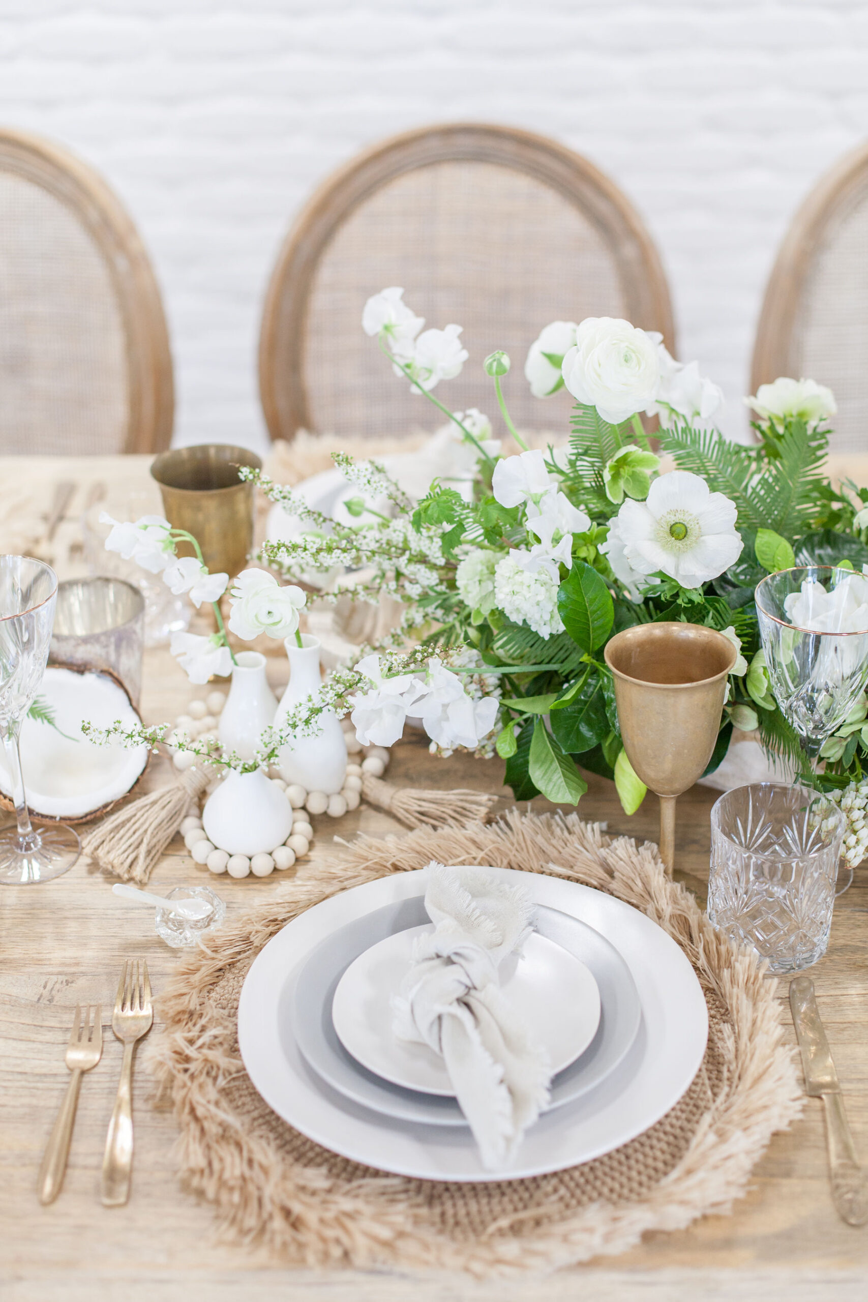 Boho beach wedding table