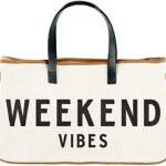Weekend Vibes Tote Bag Christmas Gifts for her from Amazon