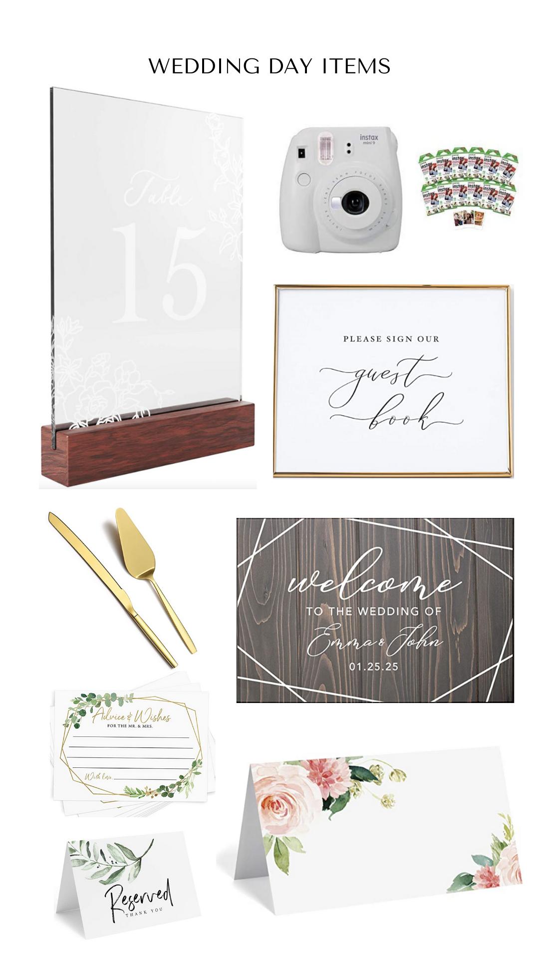Wedding Day Decor Details