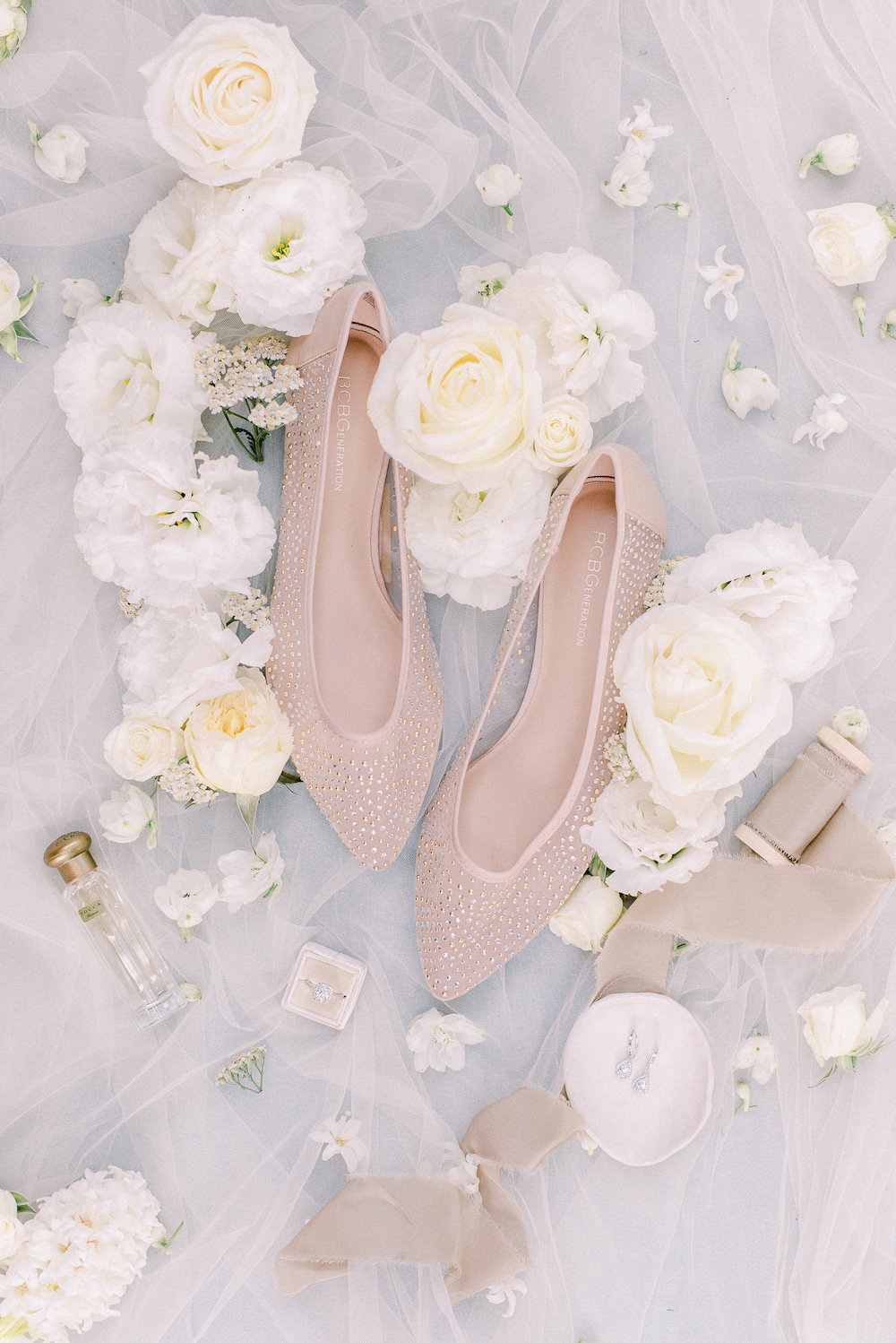 Micro-Wedding at Rancho Las Lomas by Lucky Day Events Co. / Dusty Blue Wedding Table / Intimate Wedding / Wedding Flats / Wedding Flatlay