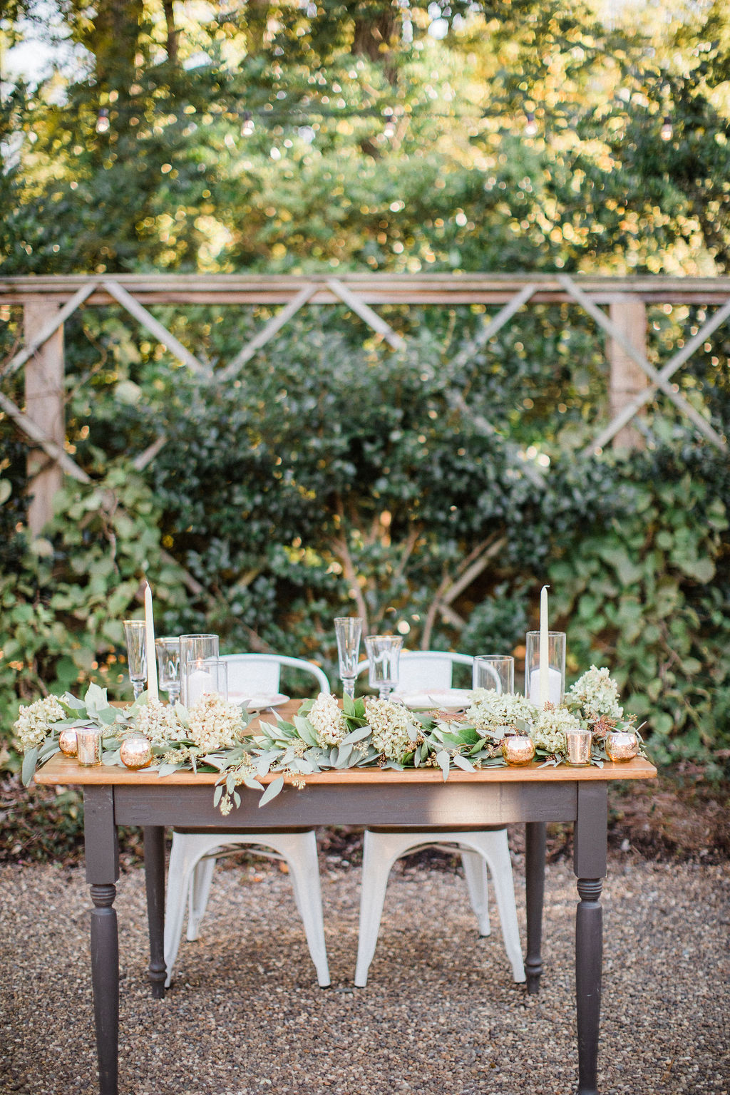 Rustic and Vintage Sweetheart Table