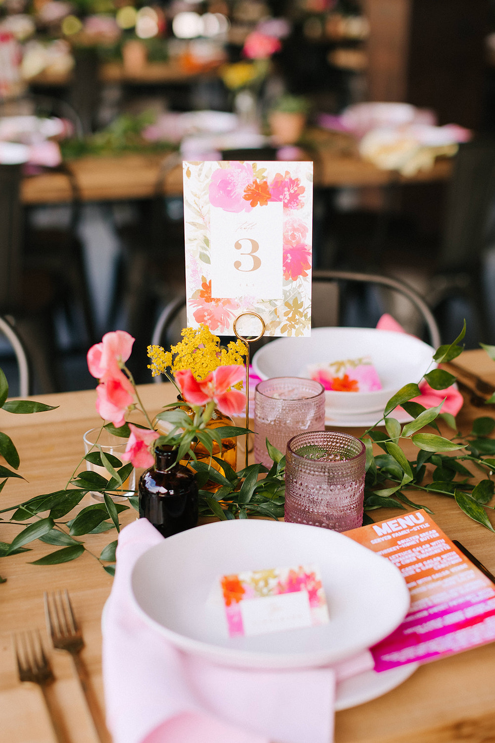 Neon Pink Place Setting