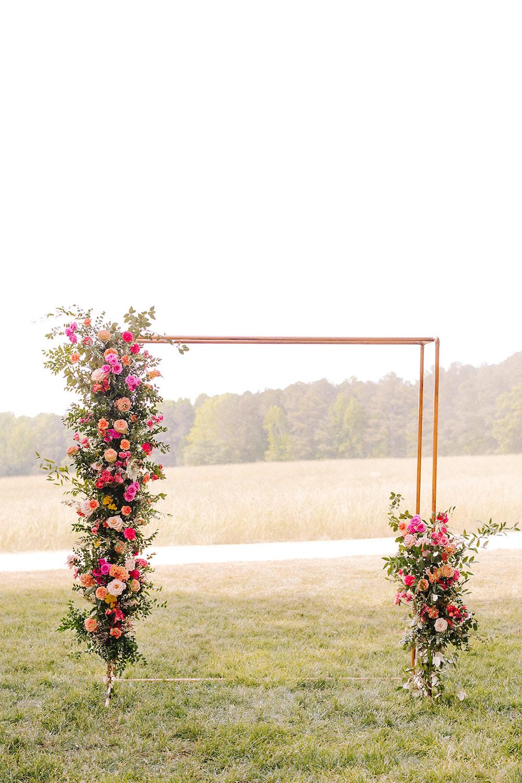 Hot Pink Wedding Arch Ceremony
