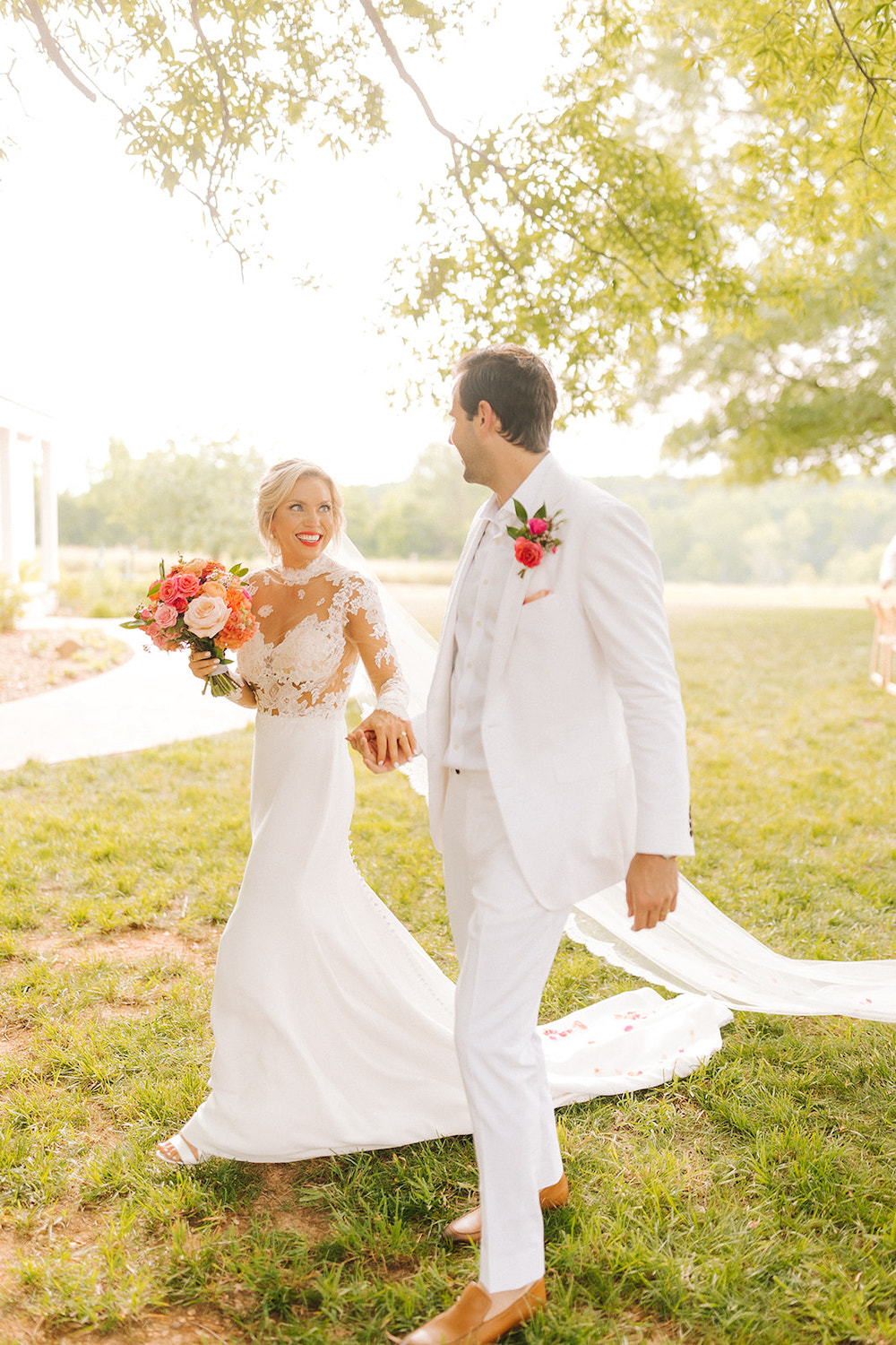 Colorful Spring Wedding at The Meadows Raleigh / Lucky Day Events Co. / Bright Wedding / Neon Wedding